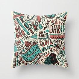 ChiliPot Pattern 2 Throw Pillow