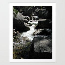 Yosemite Runs Through Art Print