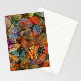Painted Autumn Leaves Stationery Cards