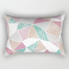 Abstract graphic pattern. Fun triangles. Rectangular Pillow