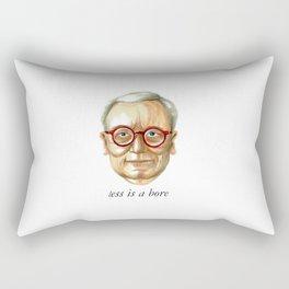 Less is a bore Rectangular Pillow