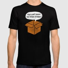 you can't make me think in here Mens Fitted Tee Black MEDIUM