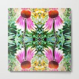 208 - abstract flower design Metal Print