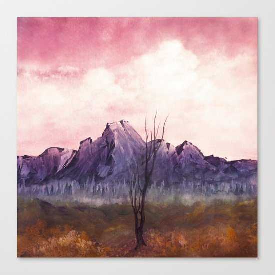 Over The Mountains II Canvas Print