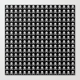 Skull and X-Bones in Black and White (Smaller) Canvas Print