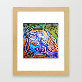Sur ma boite en bois de pastels Framed Art Print