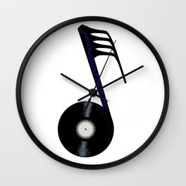 Isolated Record Note Wall Clock