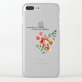 Call Me By Your Name - Inscription Clear iPhone Case