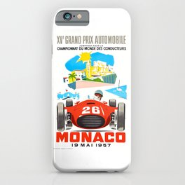 1957 MONACO Grand Prix Race Poster iPhone Case