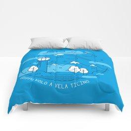 GVVT - Line art blue version Gruppo Volo a Vela Ticino Comforters