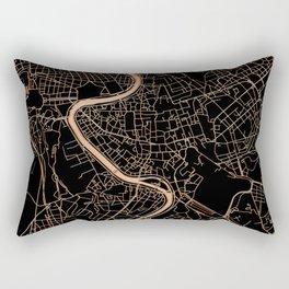 Black and gold Rome map Rectangular Pillow