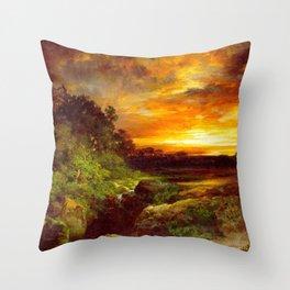 An Arizona Sunset Near The Grand Canyon 1898 By Thomas Moran   Reproduction Throw Pillow