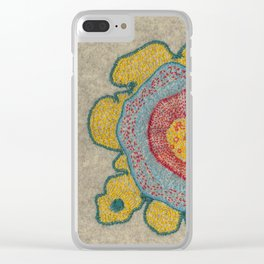Growing - Pinus 1 - plant cell embroidery Clear iPhone Case