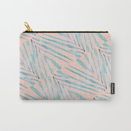 Palm Leaves Coral Carry-All Pouch
