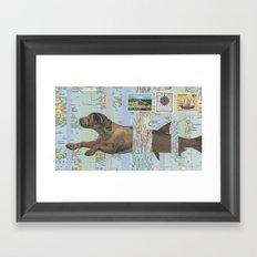 Legend of the Merdog Framed Art Print