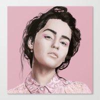 khaleesi Canvas Prints featuring Emilia  by Gatto Viola Designs by Alessandra Ragusa