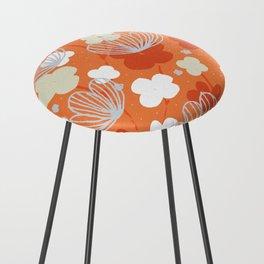 Spring Garden M+M Tangerine by Friztin Counter Stool