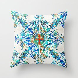 Colorful Pattern Art - Color Fusion Design 6 By Sharon Cummings Throw Pillow