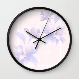 LILIUM FLOWERS Wall Clock