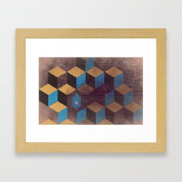 Cubes and Crystals Framed Art Print