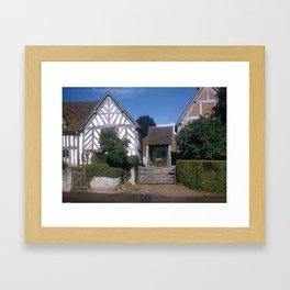 Mary Arden Home * 1950's * Barnyard * Stratford * England * Kodachrome * English Art Print Framed Art Print
