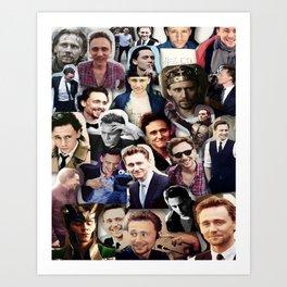 Tom Hiddleston collage Art Print