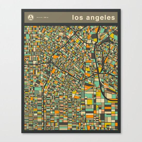LOS ANGELES Map Canvas Print