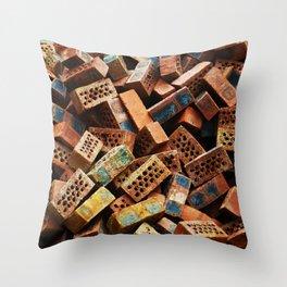 Chinese Bricks Throw Pillow