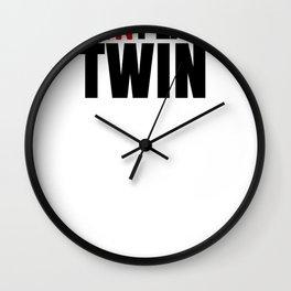 Fun Twin The Unplanned Twin Wall Clock