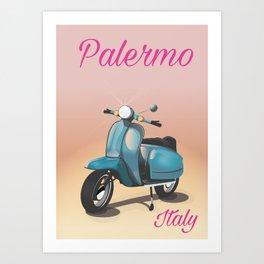 Palermo Italy travel poster Art Print