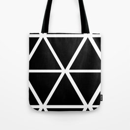 BLACK & WHITE TRIANGLES Tote Bag