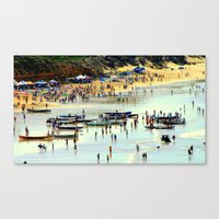 rowing Canvas Prints featuring Rowing Regatta by Chris' Landscape Images & Designs