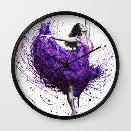 Purple Rains Ballet Wall Clock