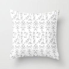 Gymnastic formation Bear Throw Pillow