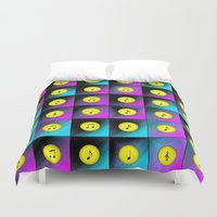 music notes Duvet Covers featuring Music notes by Gaspar Avila