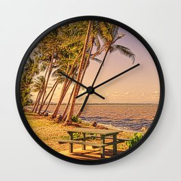 Time for a picnic on a warm tropical day Wall Clock