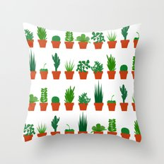 Small Plants Throw Pillow