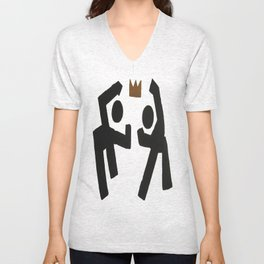 Take the Crown Plain Background Unisex V-Neck