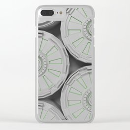 Bright futuristic technological shape with glowing lines Clear iPhone Case
