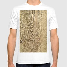 Unrefined Wood Grain Mens Fitted Tee White MEDIUM