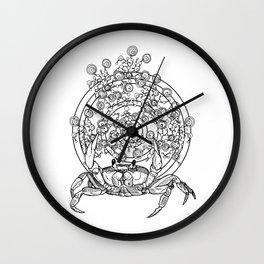 Bullseye Crab Wall Clock