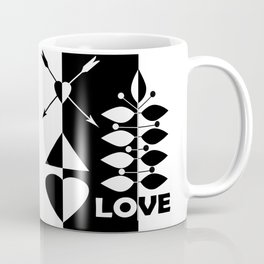 Scandinavian black and white abstract pattern . Coffee Mug