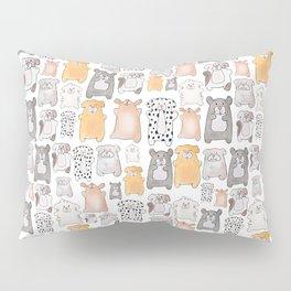 dog pound collage - gold Pillow Sham
