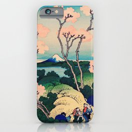Goten-Yama Hill, Shinagawa on the Tokaido by Katsushika Hokusai iPhone Case