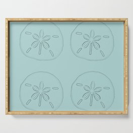 Sand Dollar Blessings Large Pattern - Pointilist Art Serving Tray