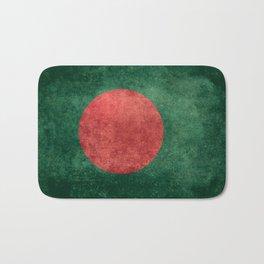 Flag of Bangladesh, Vintage Retro style Bath Mat