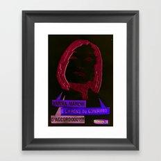 Vanna è un bene di consumo Framed Art Print