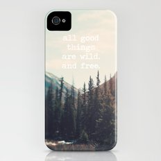 Wild and Free  iPhone (4, 4s) Slim Case
