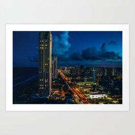 The Skyline (Color) Art Print