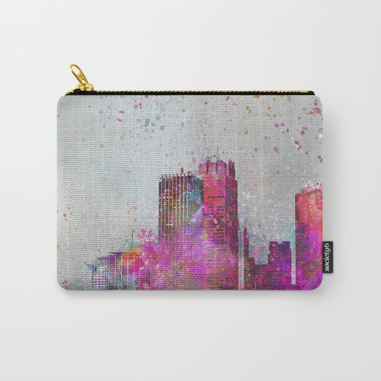 City of colors metropolis mixed media art Carry-All Pouch